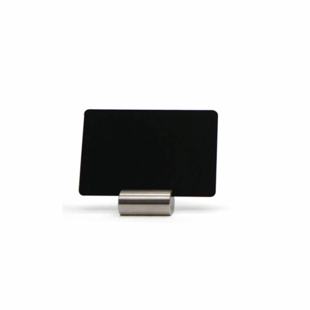 Porte-étiquettes bas en inox - 1 sachet de 10 pièces