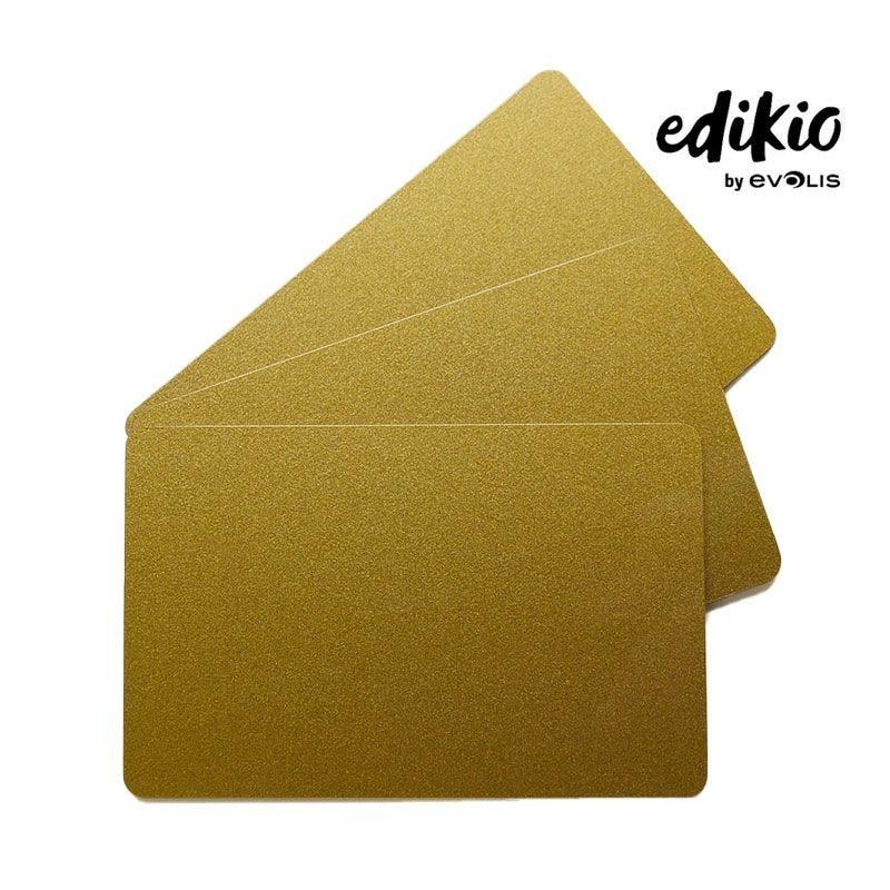 Carte compatible imprimante Edikio PVC Or - lot de 100 unités