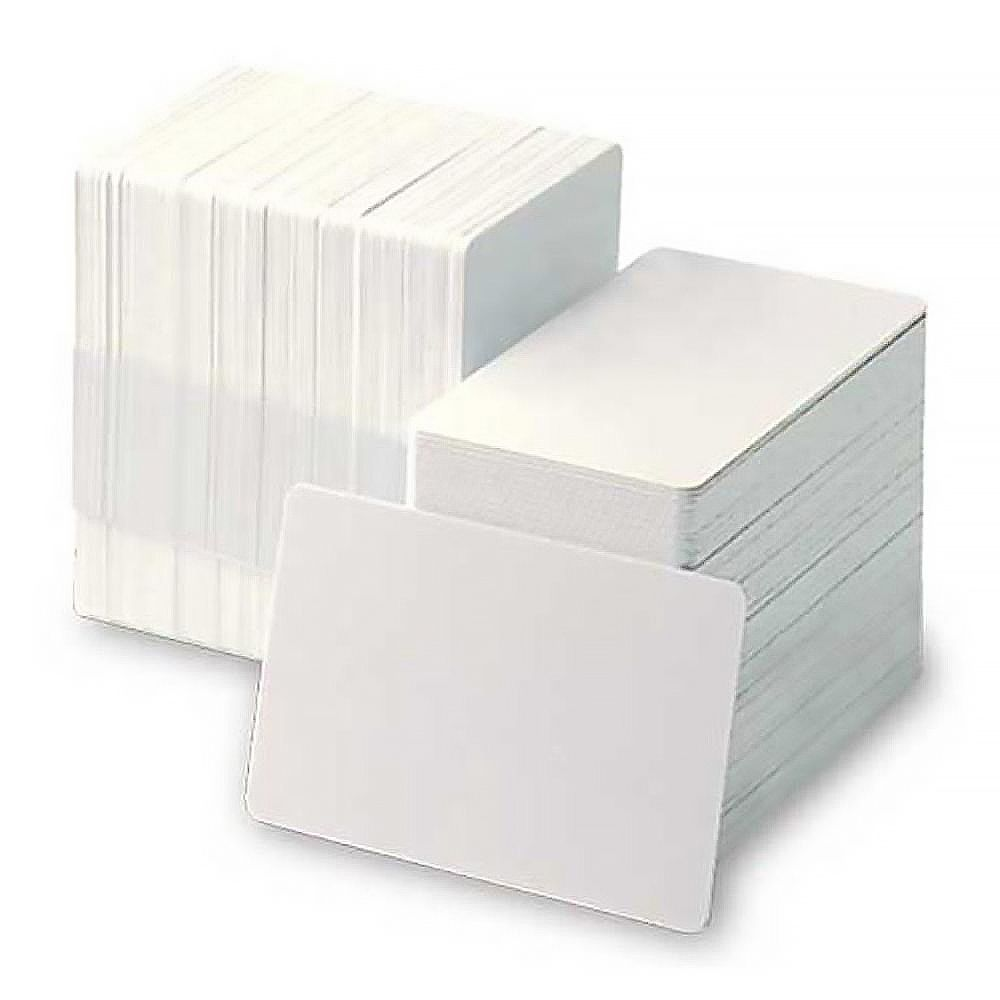 Carte compatible imprimante Edikio PVC blanche 30 mil - Par 500 unités (photo)
