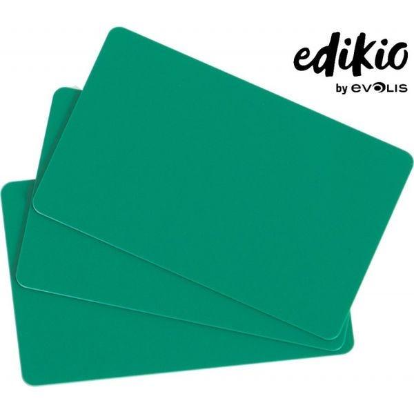 Carte compatible imprimante Edikio PVC verte - lot de 100 unités