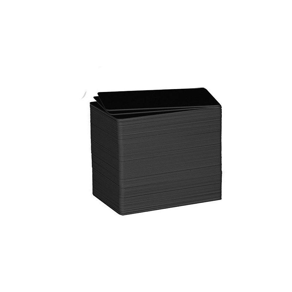 Carte compatible imprimante Edikio PVC noire mate - Par 500 unités (photo)