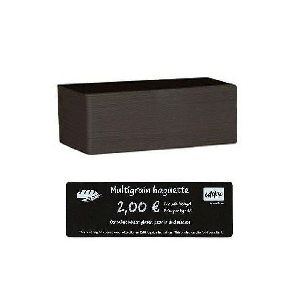 Carte compatible imprimante Edikio longue PVC noire 50x120mm - Par 500 unités