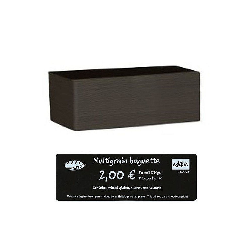 Carte compatible imprimante Edikio longue PVC noire 50x150 mm - Par 500 unités (photo)