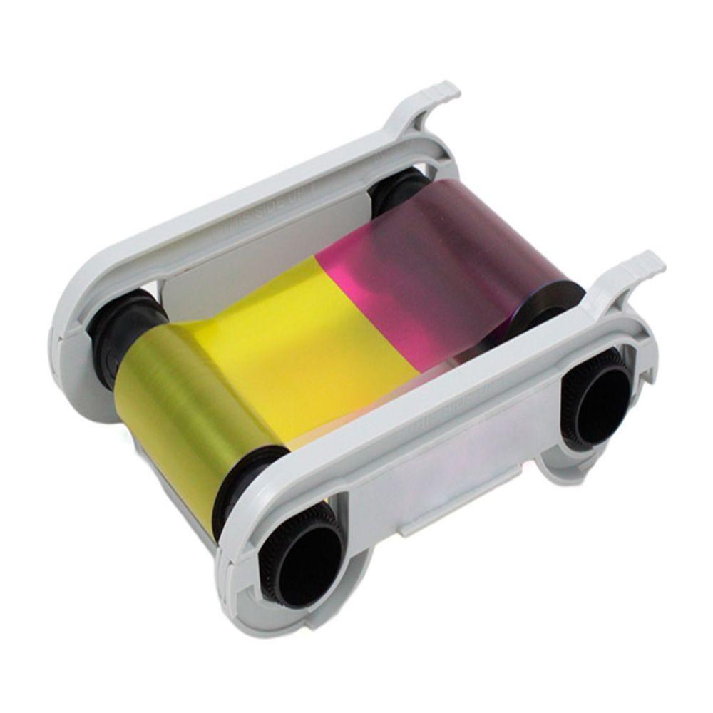 Ruban pour imprimante Edikio couleurs, verso noir YMCKOK 200 cartes