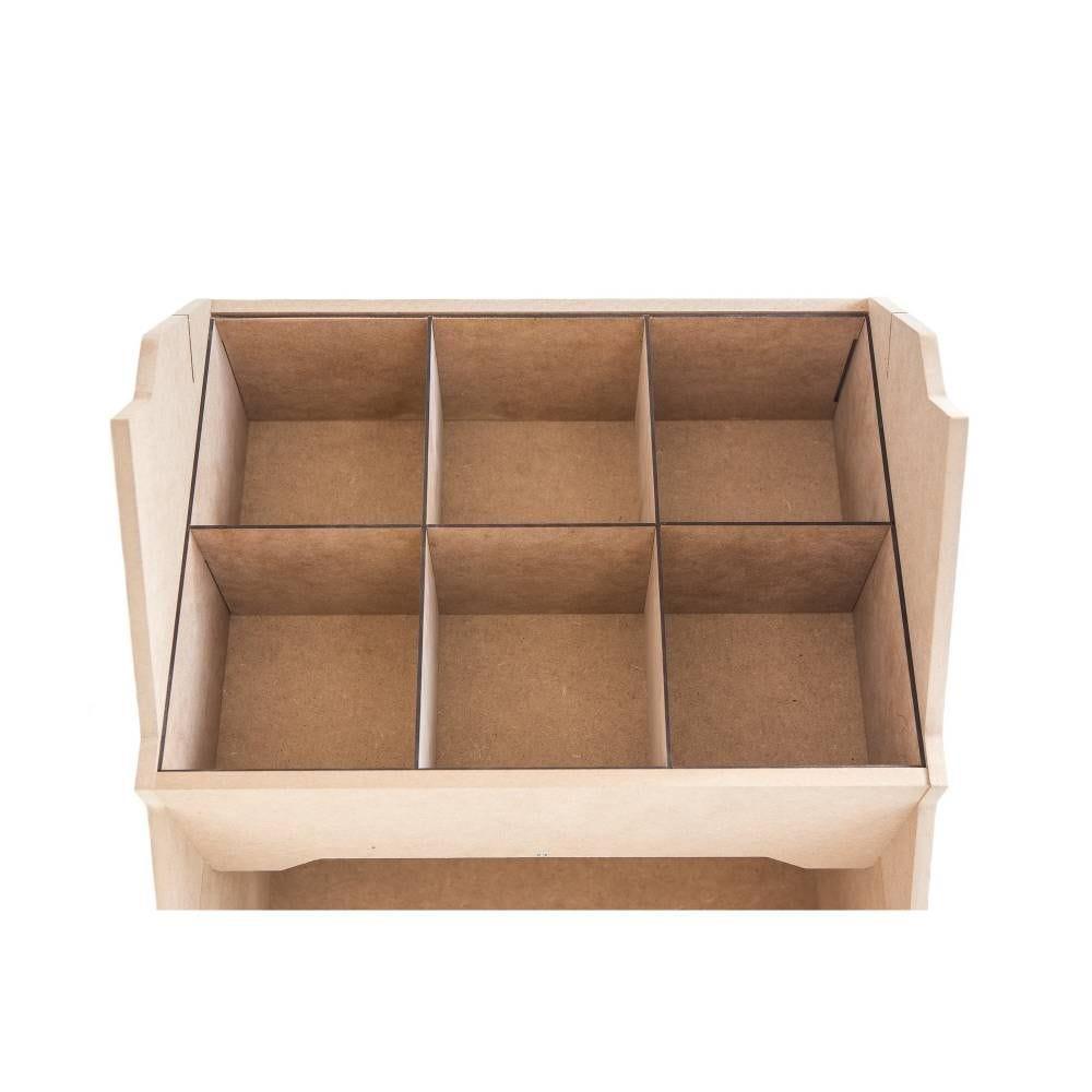 Kit compartiments, de séparation MDF pour présentoirs IZZIBOX© - 7 pièces