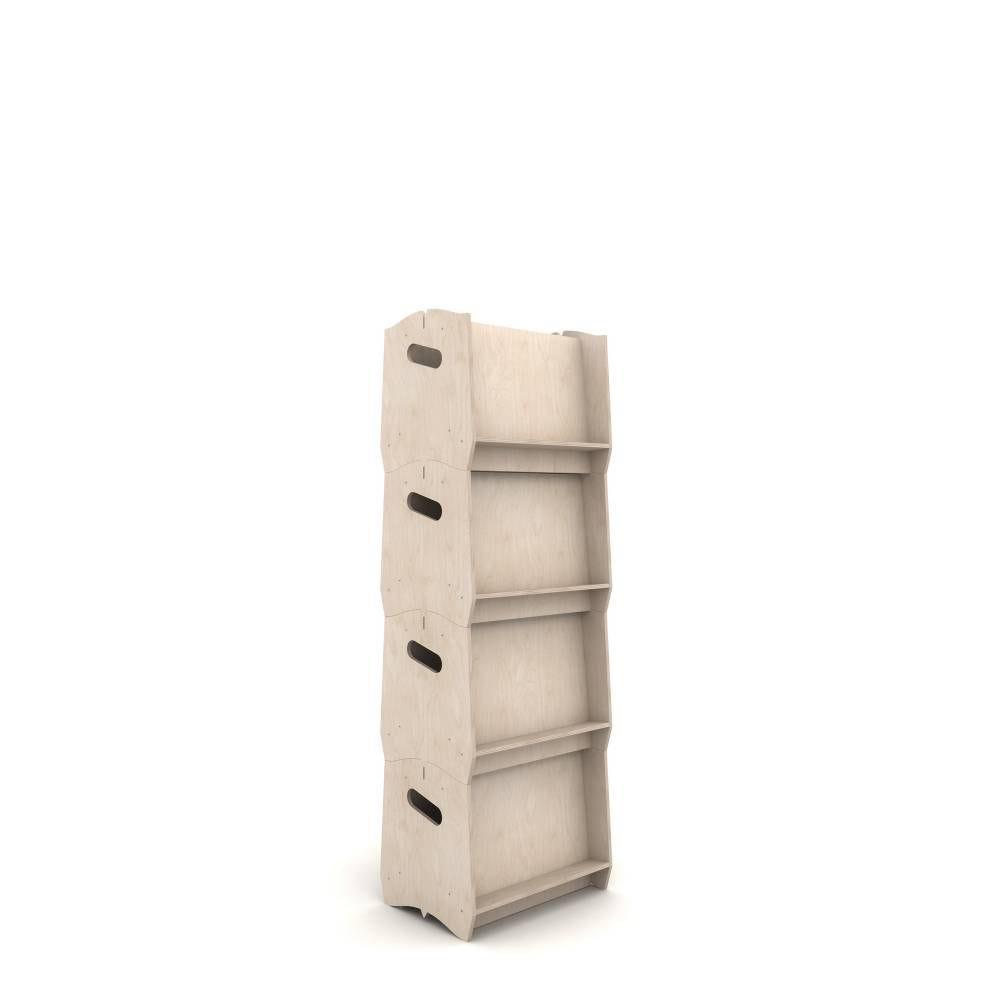 Présentoir porte-documents IZZIDOC© en contreplaqué de peuplier - 4 modules