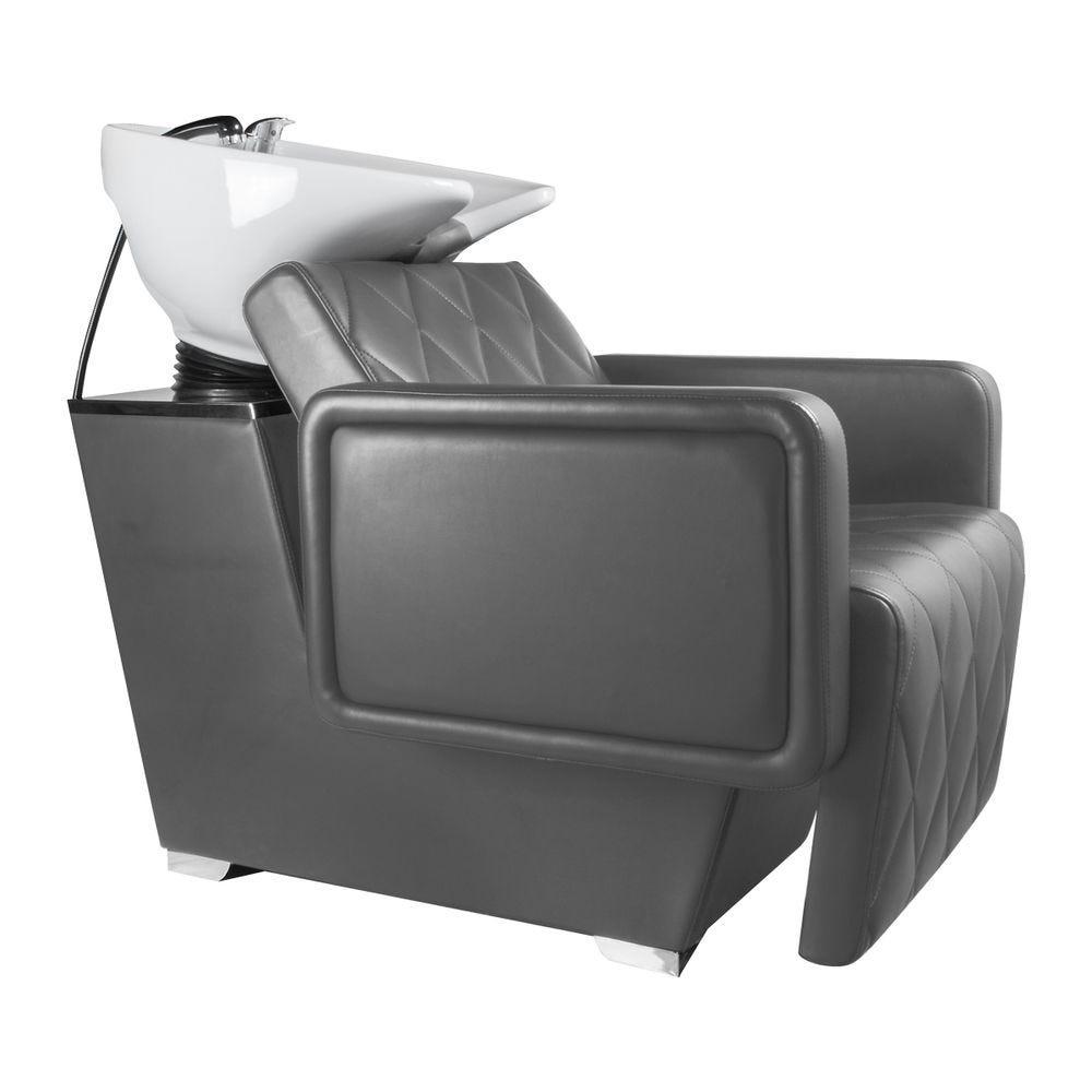 Bac à shampooing gris - cubo  - Coiffeur Barbier (photo)