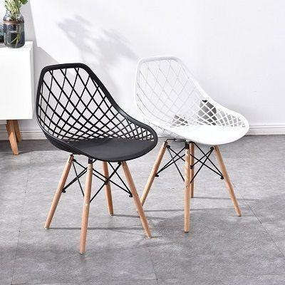 Chaise eiffen grid coloris blanc