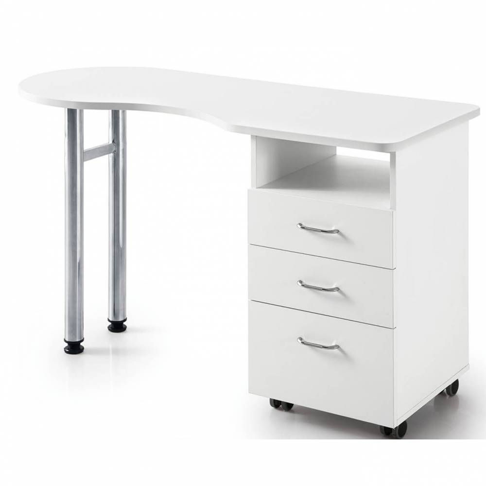 Table de manucure avec 3 tiroirs (photo)