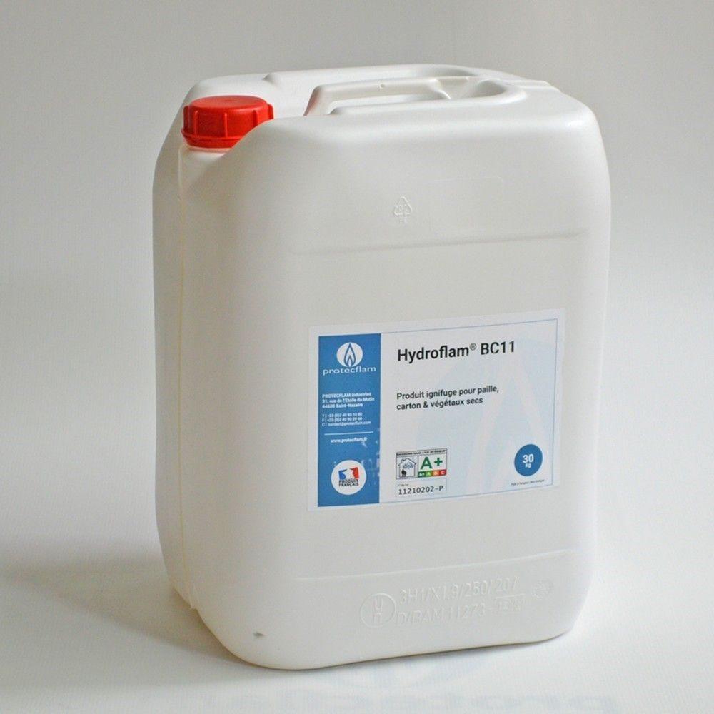 Hydroflam® BC11 - Solution ignifuge pour Carton et Végétaux secs - 30 kg