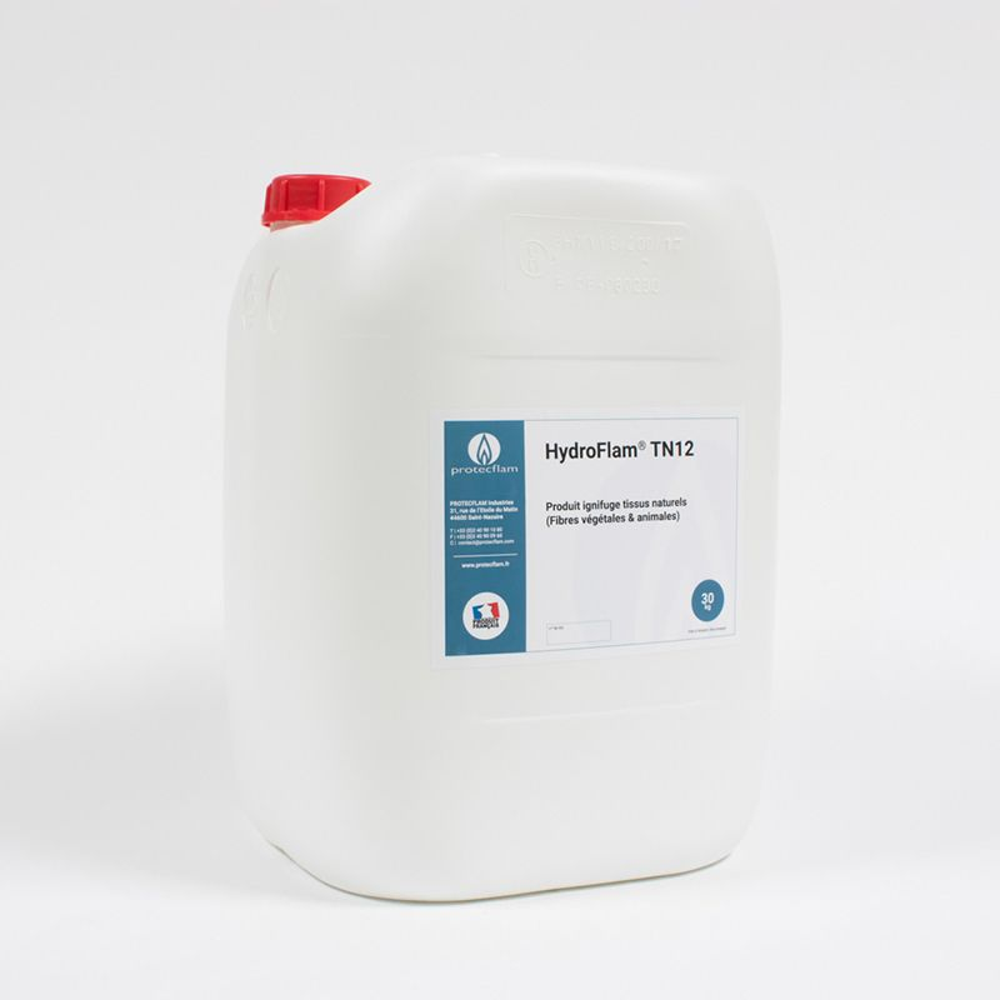 Hydroflam® TN12 - Solution ignifuge pour Tissus naturels - 30 kg