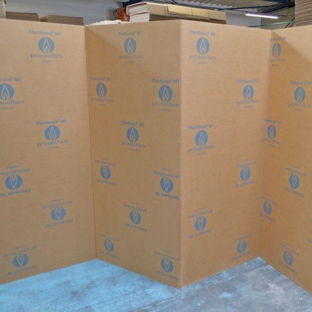Flamboard® ZZ - Paravent carton ignifugé M1 de 20 panneaux de 1 800 x 820 mm