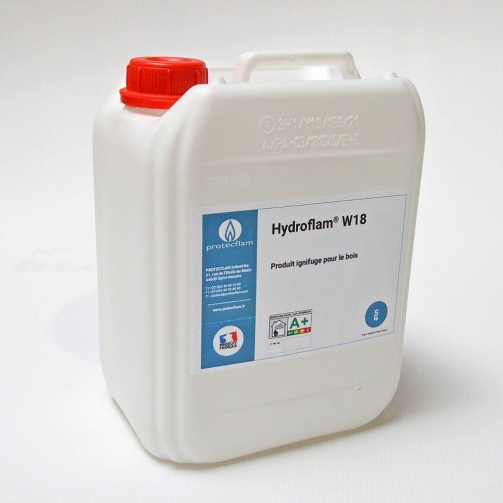 Hydroflam® W18 - Solution ignifuge pour Bois de plus de 8 mm - 10 kg
