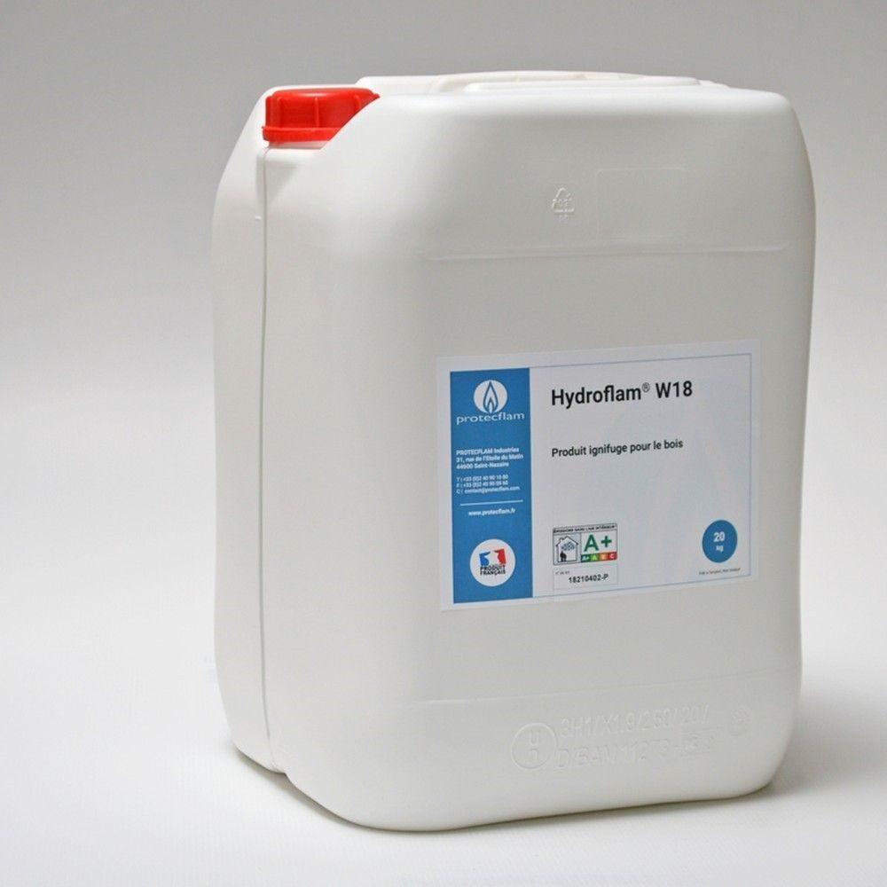 Hydroflam® W18 - Solution ignifuge pour Bois de plus de 8 mm - 20 kg