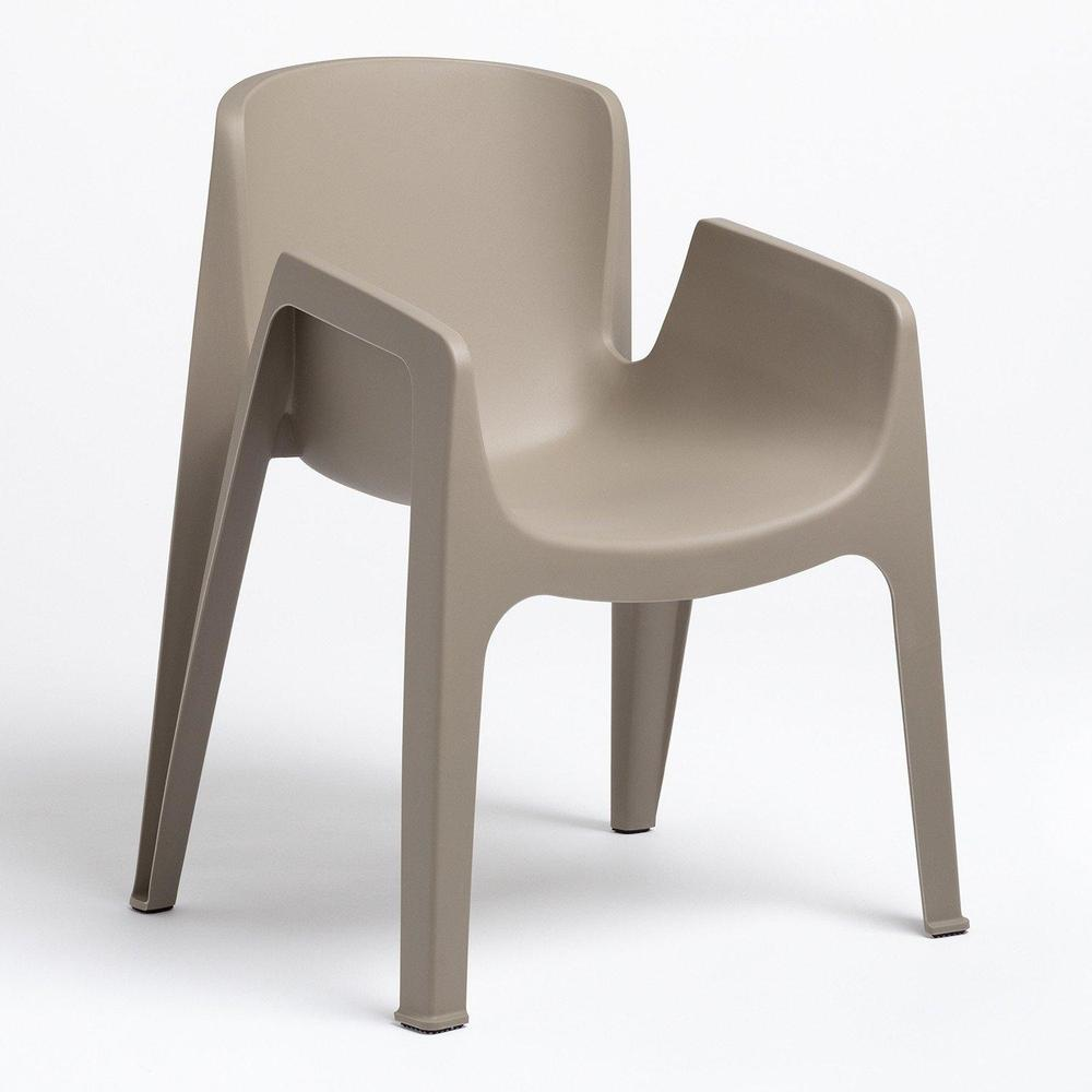 Chaise grise taupe empilable