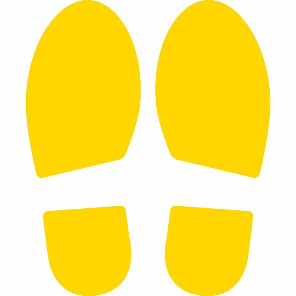 Empreintes de pas - jaune - Jeu de 2