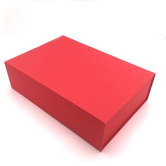 Boite cadeau aimantée arcobaleno 44x30x12 rouge par 10