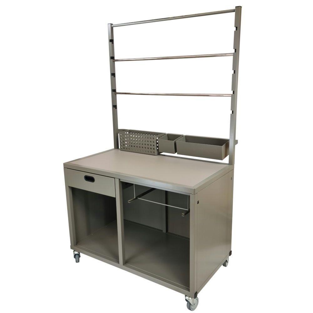 Table de traitement multifonction sur roulettes, 120 x 75 cm H 221 cm