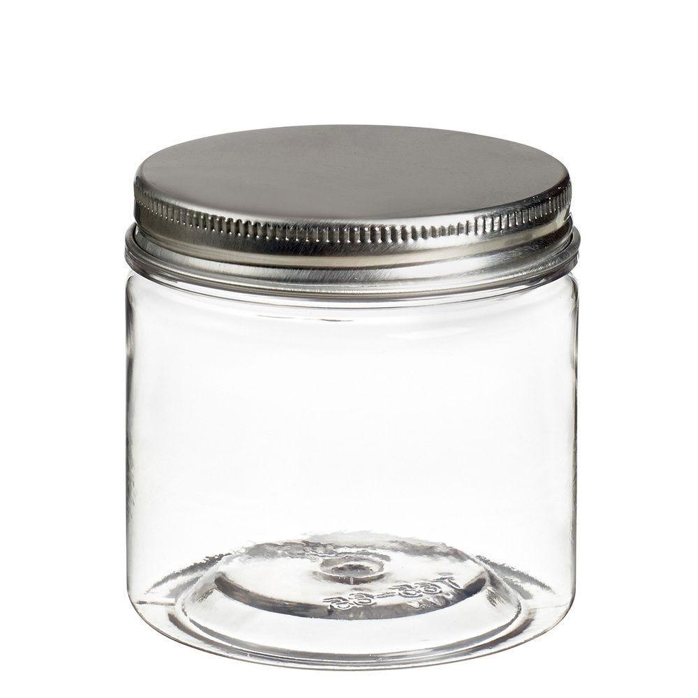 Pot à vis Tornillo transparent 150 ml + couvercle alu - par 240