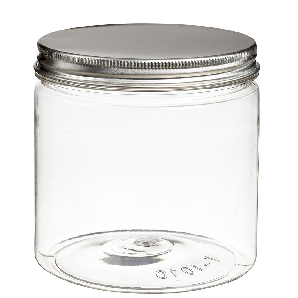 Pot à vis Tornillo transparent 700 ml + couvercle alu - par 120