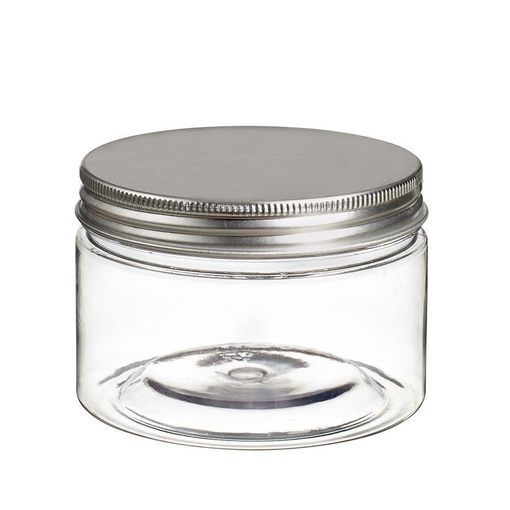 Pot à vis Tornillo transparent 230 ml + couvercle alu - par 128