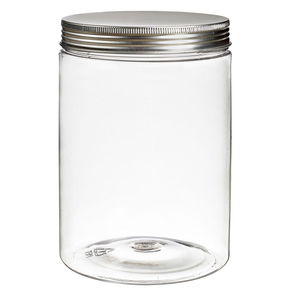 Pot à vis Tornillo transparent 1000 ml + couvercle alu par 6 C&C - par 36