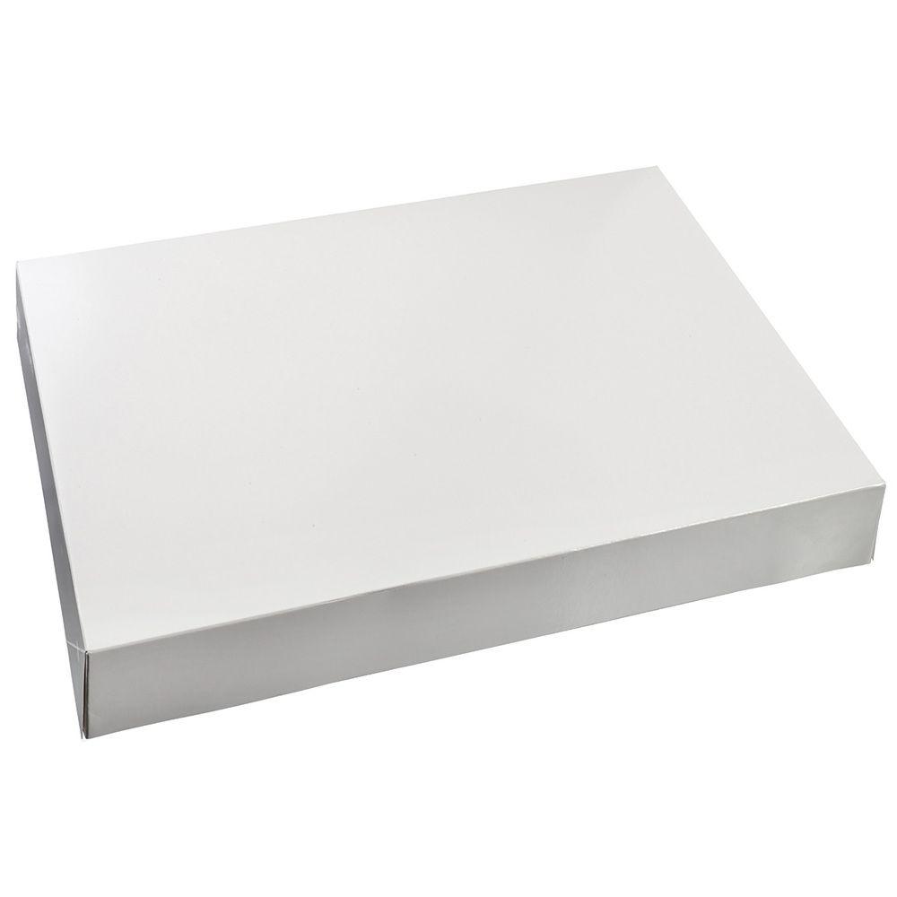 Boite plateaux traiteur 280x420 mm blanche carton compact vernie - par 100