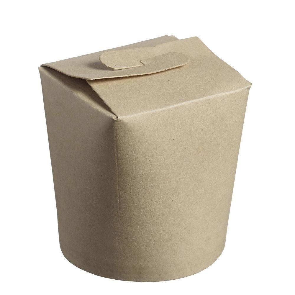 Baby pasta box, bamboo fiber 260 gsm, PLA inner coating,C&C pouch x50 - par 1000