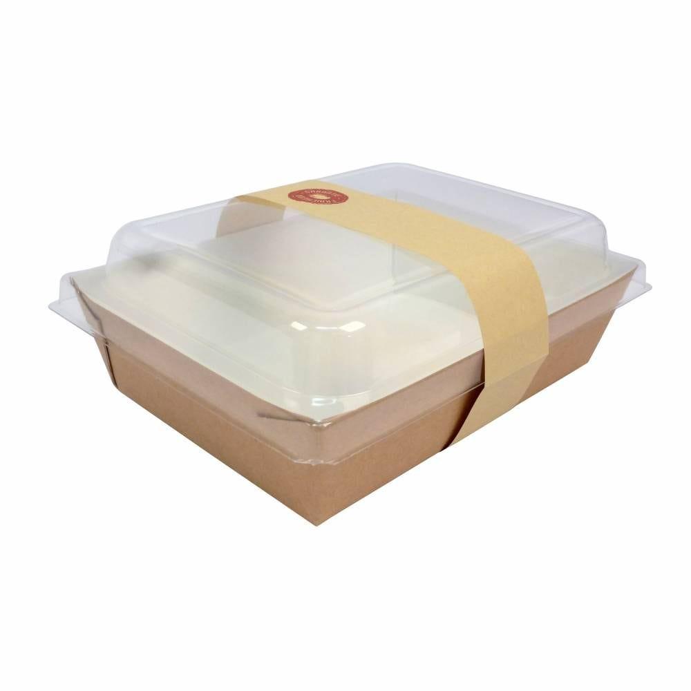 Panier salade carton 1000ml +couvercle transp +bague par 50 C&C. - par 300