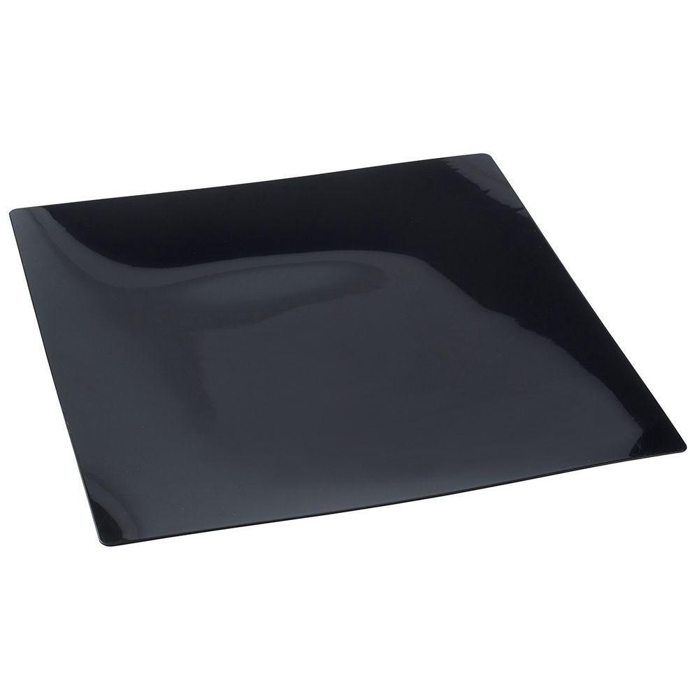 Assiette Fluid 250x250x13 mm noire - par 50