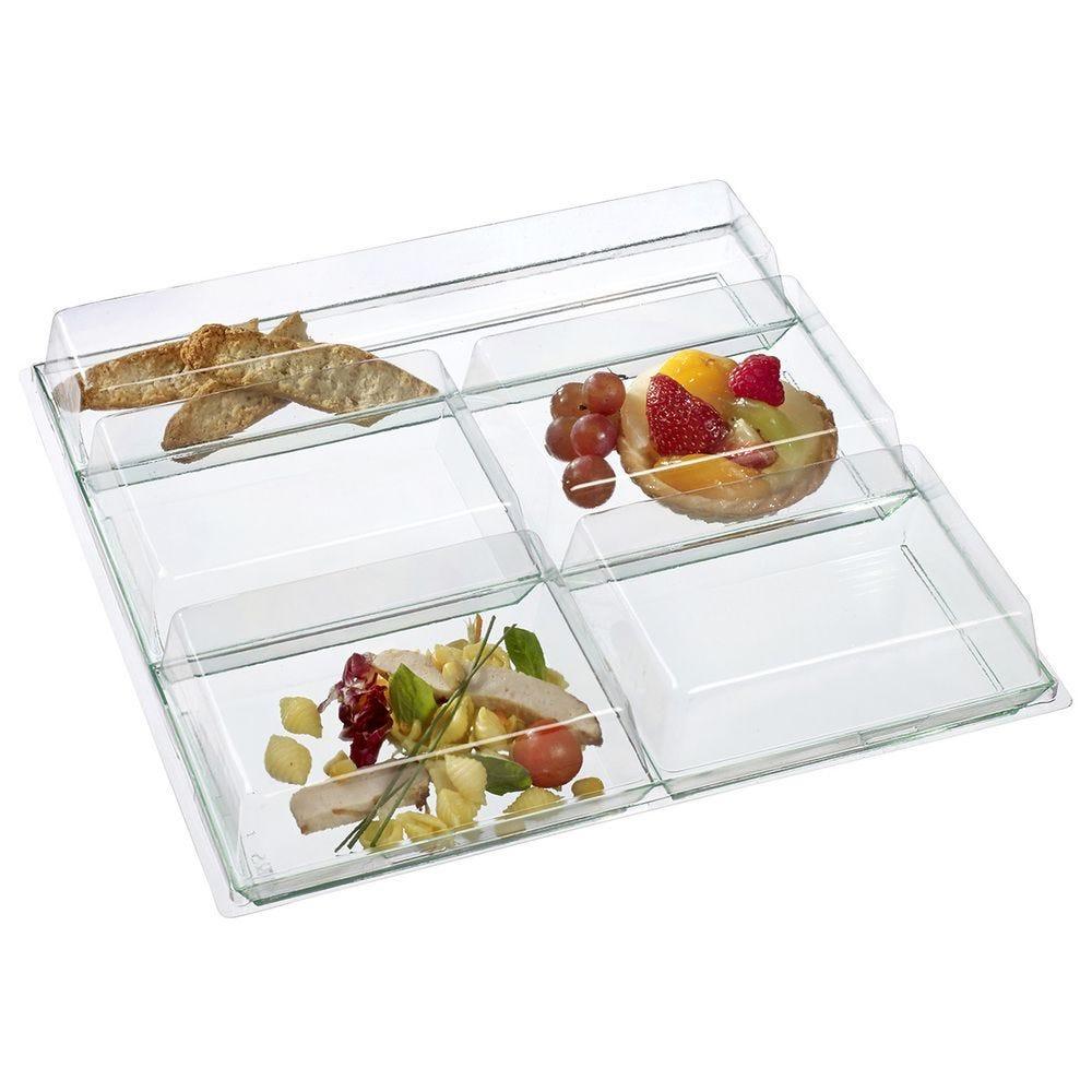 Couvercle PVC transparent pour plateau Five 31x31x2 cm - 50/colis - par 50