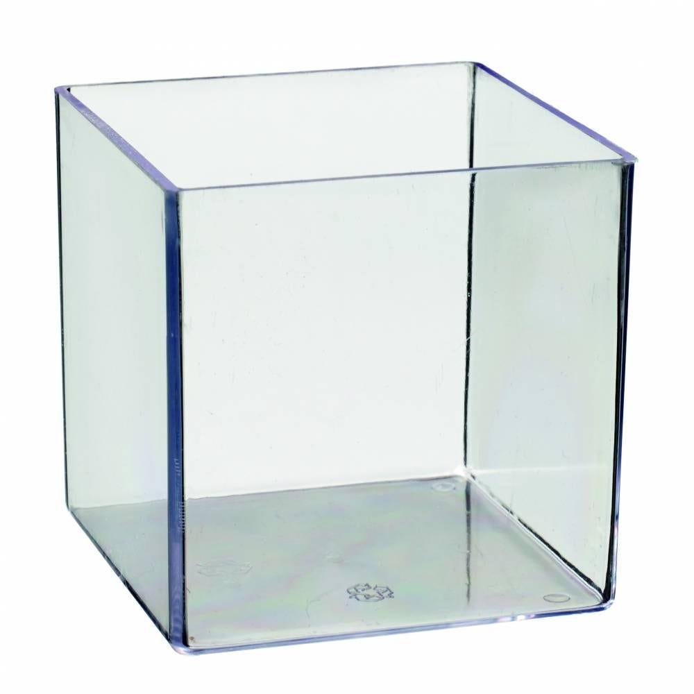 Cube Monoportion 160 ml transparent 55x55x55 mm    - par 100