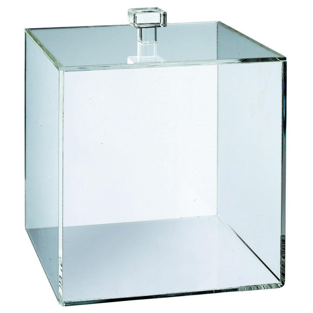 Cube PMMA 250x250x250 mm transparent épaisseur 3 mm + couvercle - par 6