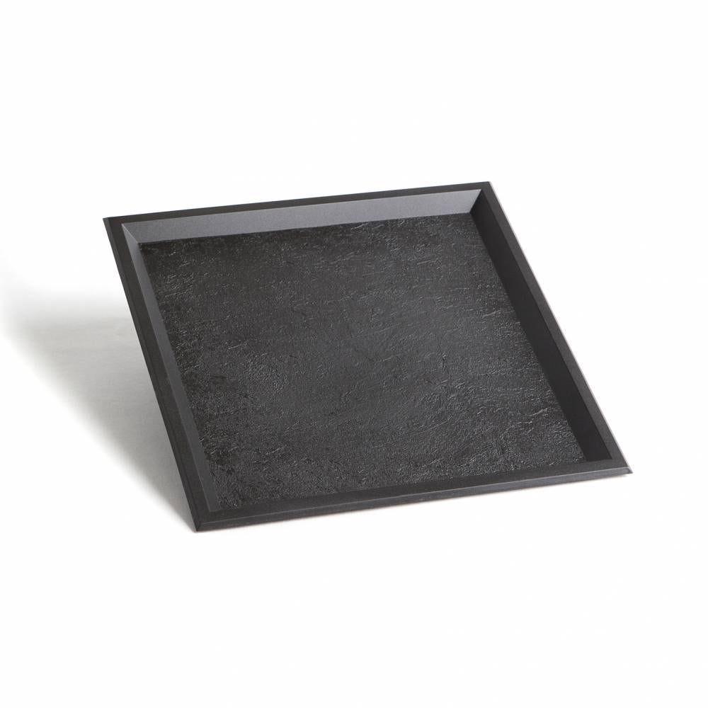 Plateau texture ardoise 240x240 mm par 10 C&C - par 100