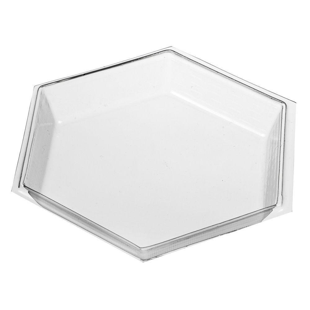 Ravier hexagonal Petit Déjeuner transparent 125 mm - par 300