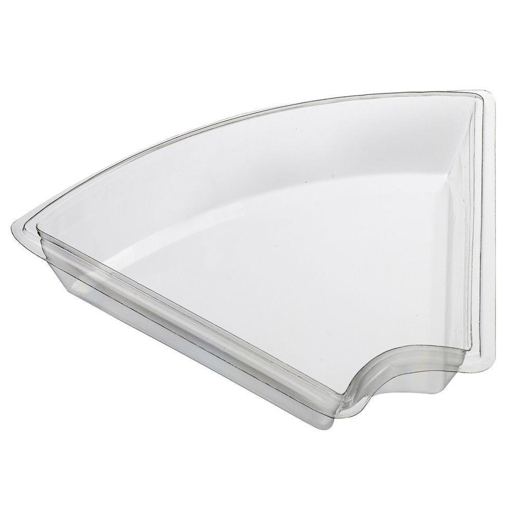 Assiette triangulaire Petit déjeuner transparente - par 300