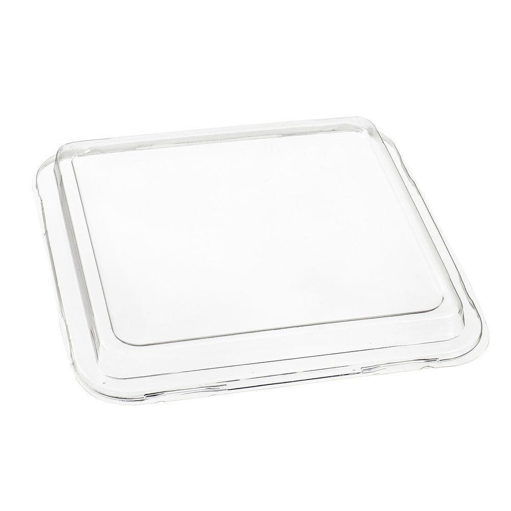 Couvercle transparent 197x197x20 mm pour assiette pulpe de canne - par 500