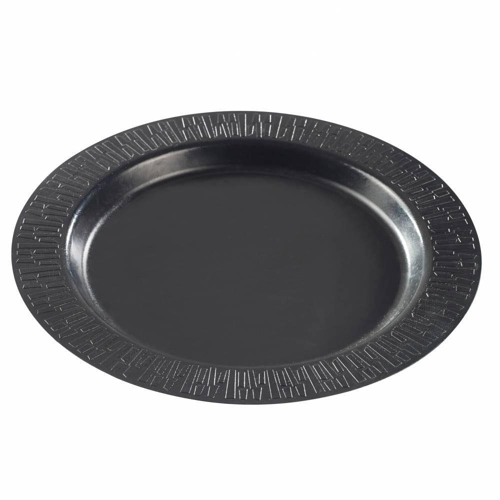 Assiette Accueil Ø 270 mm pulpe de canne lamination PLA noire - par 200