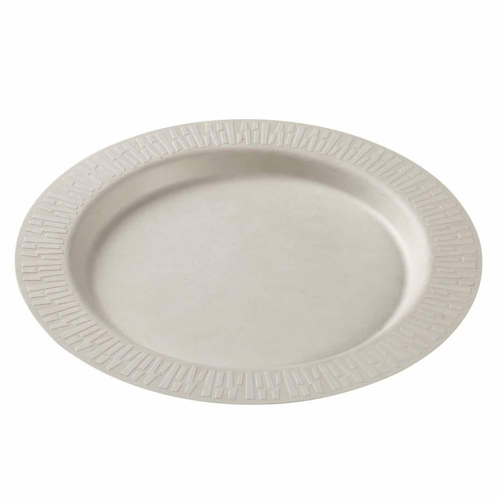 Assiette Accueil Ø 270 mm pulpe de canne blanche - par 200
