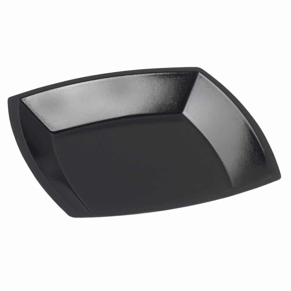 Assiette Gala pulpe de canne 188x188x24 mm lamination noire - par 200