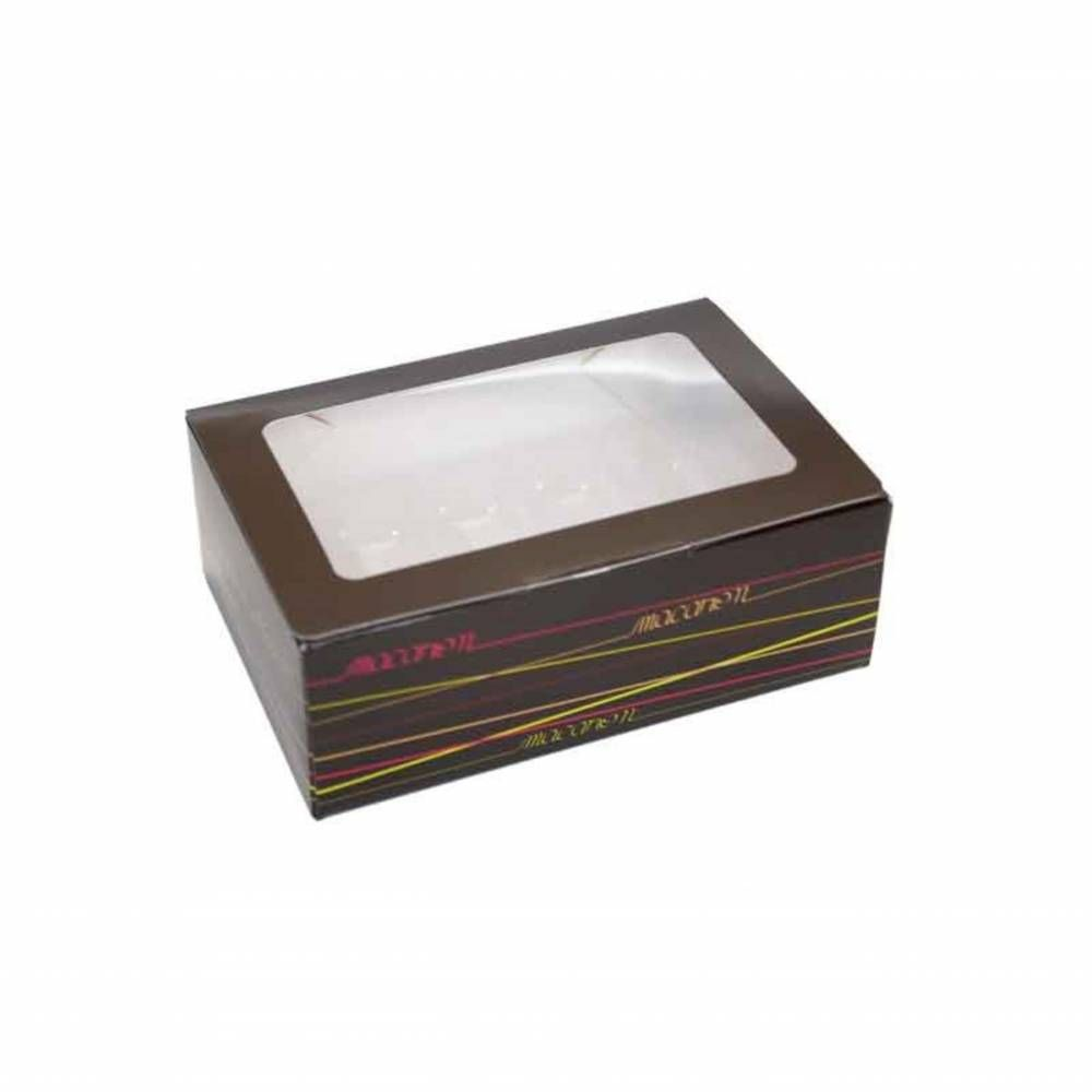 Boîte 10 macarons 14,5 x 9,8 x 5,2 cm - Par 50