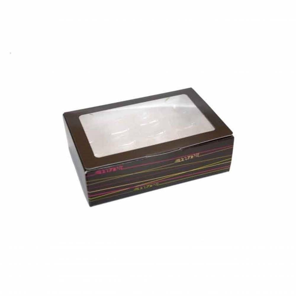 Boîte 16 macarons 17,3 x 11,7 x 5,2 cm - Par 50
