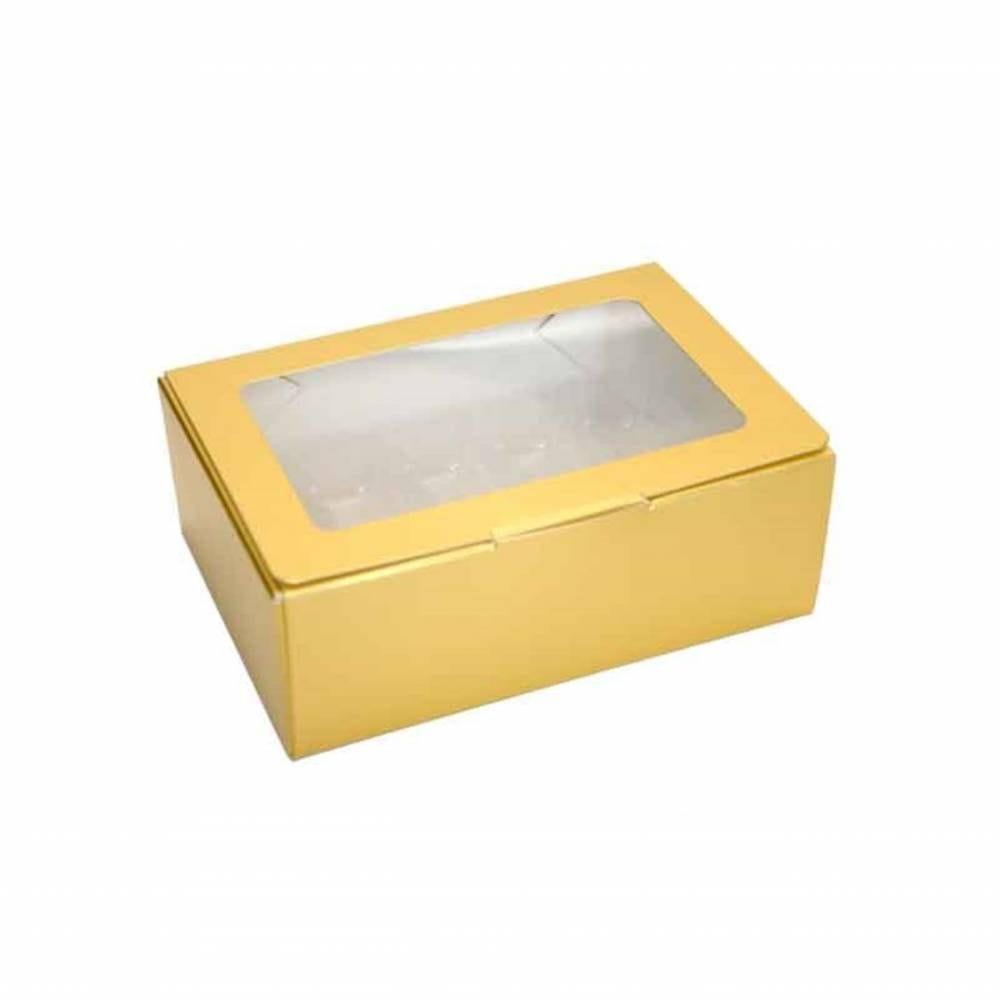 Boîte or mat 10 macarons 14,5 x 9,8 x 5,2 cm - Par 50