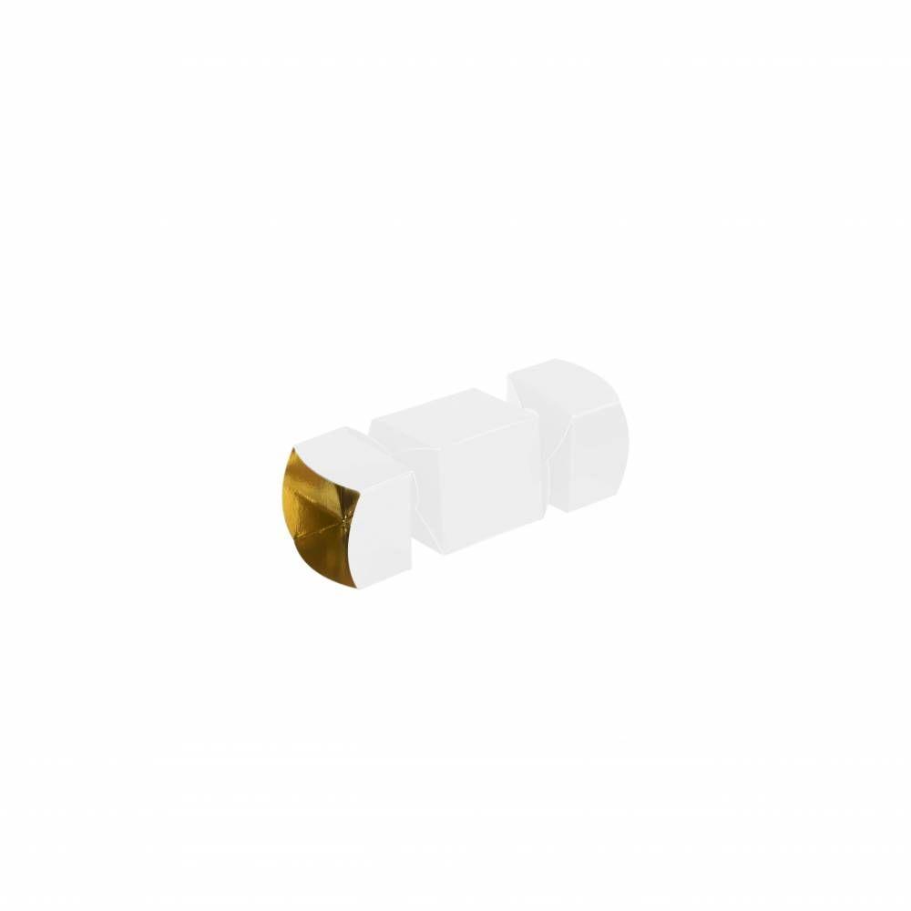 Mini papillote Blanc Or 4,5 x 4,5 x 5 cm - Par 25