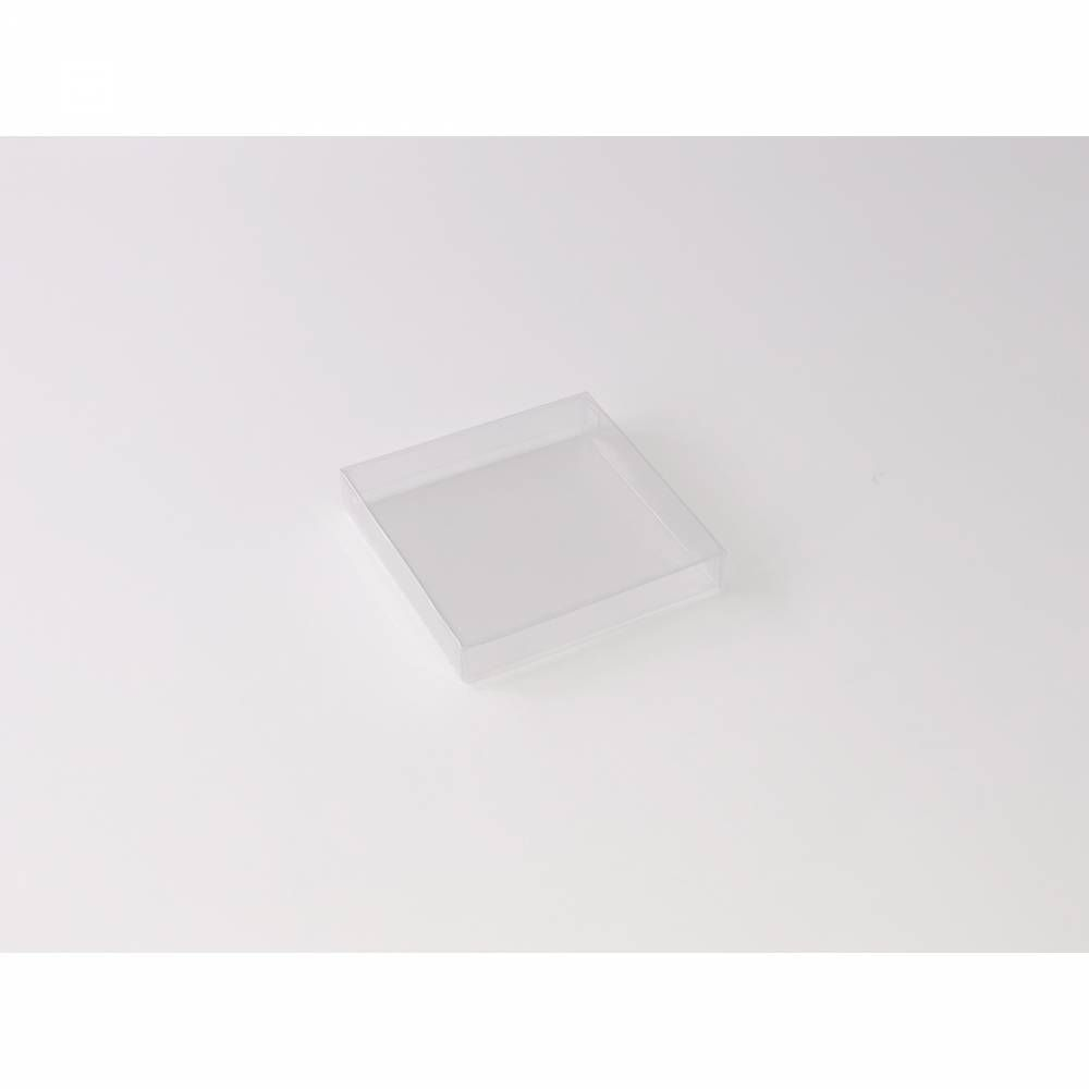 Boîte carrée transparente 9 x 9 x 1,5 cm - Par 25