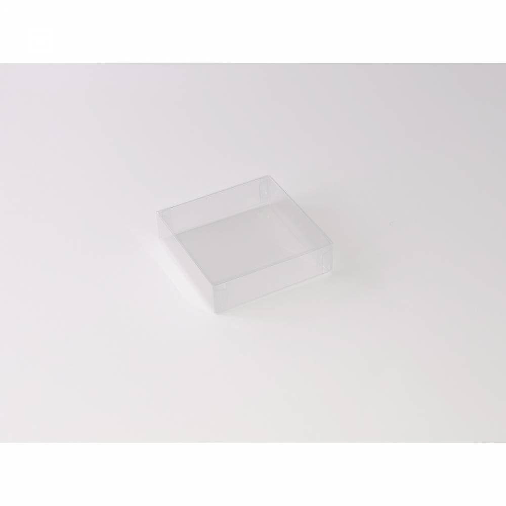 Boîte carrée transparente 9 x 9 x 2,5 cm - Par 25