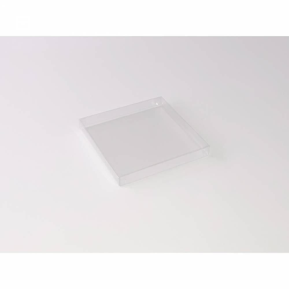 Boîte carrée transparente 12,5 x 12,5 x 1,5 cm - Par 25
