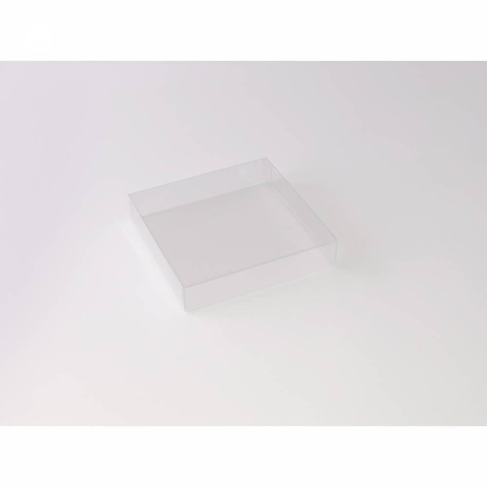 Boîte carrée transparente 12,5 x 12,5 x 2,5 cm - Par 25