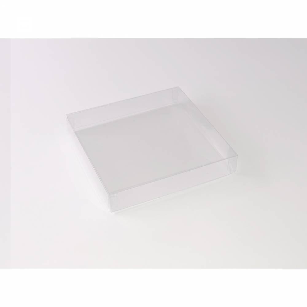 Boîte carrée transparente 15 x 15 x 2,5 cm - Par 25