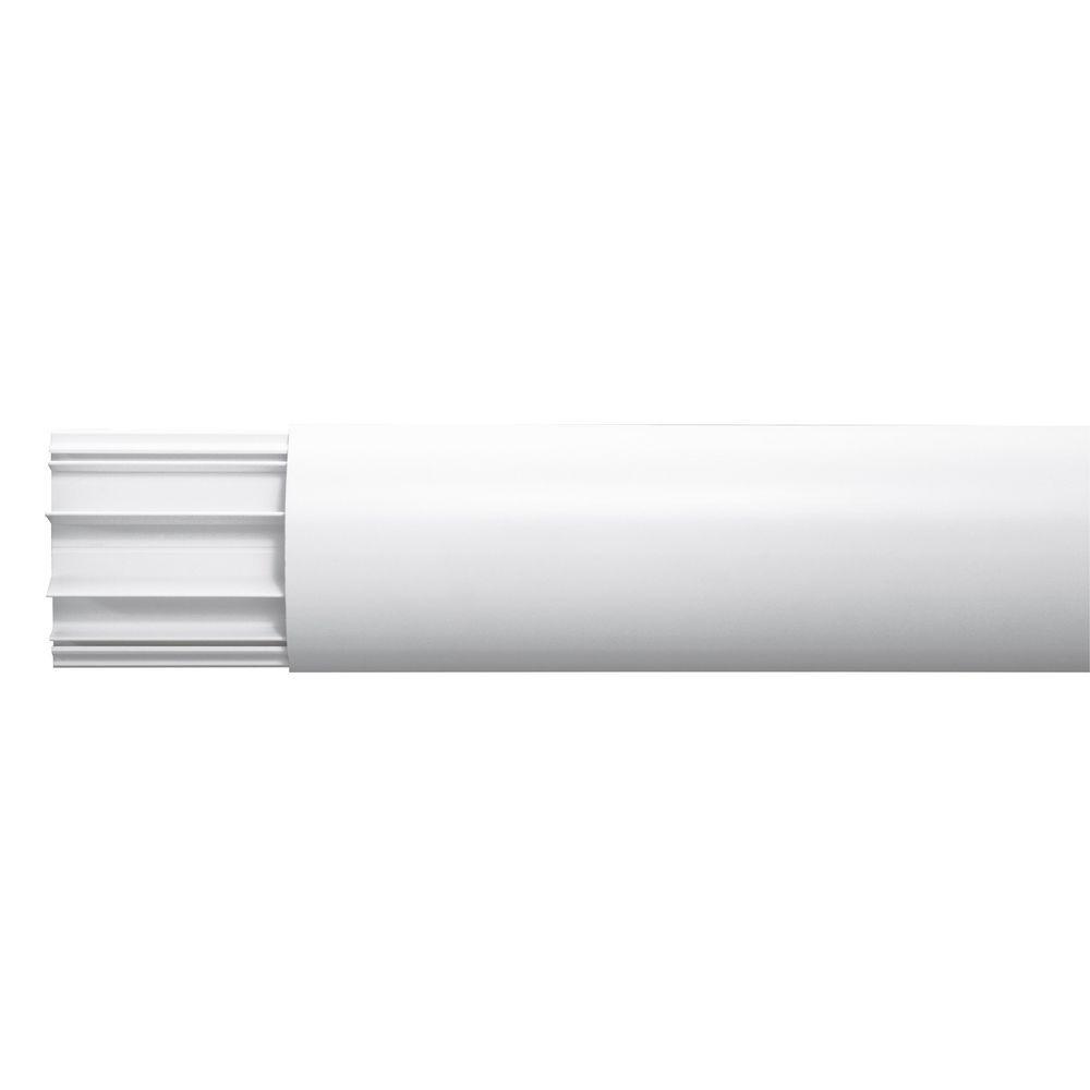 Cache câbles multimédia - kit pour écran plat - blanc